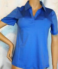 Prestigio DONNA shirt polo t-shirt à manches courtes Swarovski Elements Bleu 36