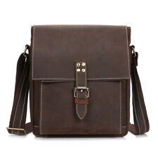Vintage Crazy Horse Genuine Leather Men Shoulder Bag Leather Messenger Bag Male1