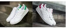 Brand-new Adidas Originals STAN SMITH J White & Green / Pink Ladies/Boys/Girls