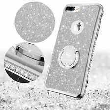 Apple iPhone 8 Plus Case Glitter Cute Bling Diamond Protective Cover 2017 Silver