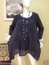 Femme pull maille  grande taille 46/48/50/52 tunique manche longue chic ample