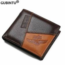 Luxury Genuine Leather Men Wallets Coin Pocket Zipper Men's Leather Wallet with