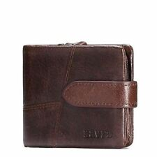 Genuine Leather Men Wallets with Coin Zipper Mini Male Purses Card Holder Wallet