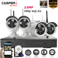 Wireless Home Security System WIFI 4CH 1080P CCTV IP Camera 1-4TB NVR Outdoor
