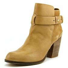 DUNE SIZE 3 36 PARMAR TAN CAMEL REAL LEATHER BLOCK HEEL ANKLE BOOTS BNWB