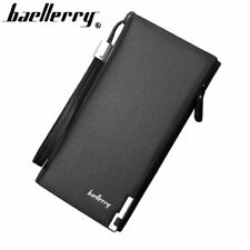 Men leather wallet with strap high quality zipper wallets men famous brand long