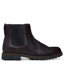 Timberland Larchmont Slip On Chelsea Boots Dark Brown RRP £115 9706A