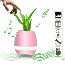 Smart LED Wireless Bluetooth Speaker Touching Music Playing Plant Flower Pot UK