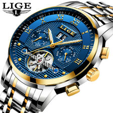 Lige Mens Watches Top Luxury Mechanical Automatic Watch Men Full Steel Business1