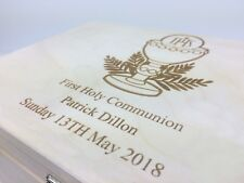 Wooden Engraved Personalised First Holy Communion Gift Box