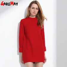 Robe Pull Femme Sweater Dress Women Winter Sweaters And Long Pullover Womens Jum