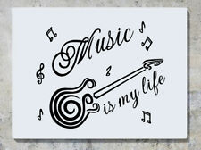 MUSIC IS MY LIFE Guitarra Tunes Adhesivo Pared Adhesivo Imagen