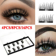 8 Pairs 3D Double Magnetic Eyelashes Natural Extension Reusable False Eye Lashes