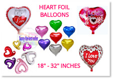Red Heart Love Valentines Day Romantic Foil Balloons Gifts Party Decorations
