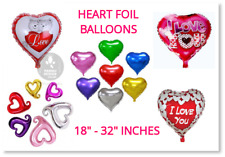 Heart Love Valentines Day Romantic Foil Balloons His/Her Gifts Party Baloons