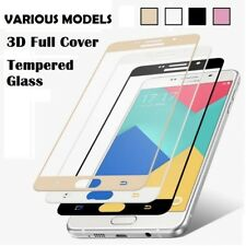 100% FULL FRONT COVER EDGE TEMPERED GLASS SCREEN PROTECTOR - SAMSUNG APPLE NOKIA