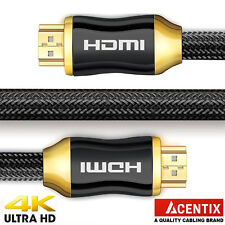 HighSpeed Gold Plated HDMI Cable | 4K @ 60Hz 4096 x 2160p HDR UHD XBOX 3D TV PS3