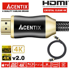 PREMIUM HDMI Cable v2.0 HD High Speed 4K 2160p 3D Lead 1m/2m/3m/4m/5m/7.5m/10m