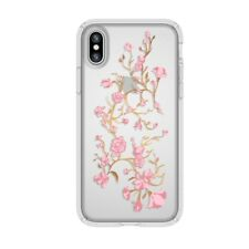 Speck Case Cover for Apple iPhone X Presidio Clear with Print Pink and Clear