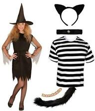 Fancy Dress Childrens Meg and Mog World Book Day Witch Cat Striped WBD