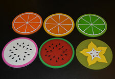 Fruit Silicone Coaster Hot Drink Cup Tea Coffee Mat Pad Heat Non-Slip Gift -4pcs