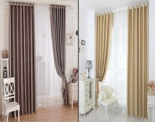 Striped Luxury Curtains Ring Top Fully Lined Pair Eyelet Ready Made inc TieBack