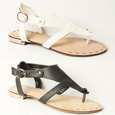 WOMENS LADIES SUMMER  STRAPPY FLAT FLIP FLOPS THONG STRAP SANDALS SHOES SIZE 3-8