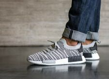 adidas NMD R1 PK PRIMEKNIT STLT BOOST Mens White Black Grey Trainers Shoes