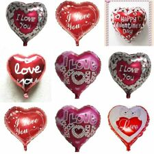 Large I Love You Happy Valentines Day Foil Balloons Mix Colour Heart Baloons