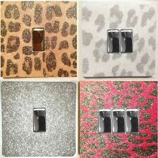 METALLIC GLITTER LIGHT SWITCH COVERS AND SURROUNDS - EASY-FIT SELF ADHESIVE