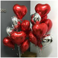 Heart Balloons Happy Valentines Day Romantic i Love you His/Her baloons BALLOONS