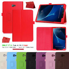 """New Flip Leather Stand Case Cover For Samsung Galaxy Tab A6 10.1"""" Inch T580 T585"""