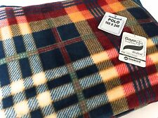 Manterol Polo Checked Blanket Bedspread Premium Quality Single160x240 Blue Red