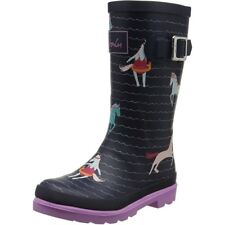 Joules Printed Welly Seaside Pony Marine Française Caoutchouc Junior