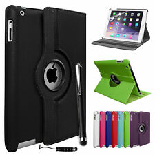 360° Leather Rotating Smart Stand Case For APPLE iPad Air 2 3 4 Mini Air 2 & Pro