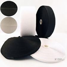 50mm hook and loop sew-on Black or White fastening tape