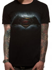 batman v superman logo ufficiale nero unisex t-shirt uomo donna dc comics league
