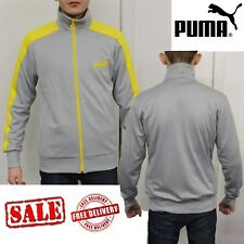 PUMA Mens LS Eagle Point Sports Track Jackets Sweatshirts Jumpers Tops Grey UK