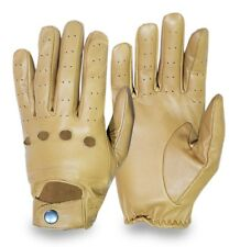 Leather Full Finger Soft Driving Gloves Motorbike Car Bus Chauffeur Retro Style