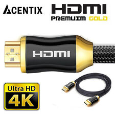 HDMI 2.0 Cable 4K Ultra UHD for SKYQ HD GAMING CAMERA HDTV PS3 PS4 LAPTOP GO PRO