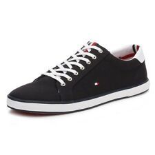 Tommy Hilfiger Mens Trainers Black Midnight Harlow 1D Textile Lace Up Shoes