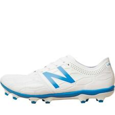 New Balance Mens Visaro 2.0 K Leather FG Football Boots White/Bolt Blue