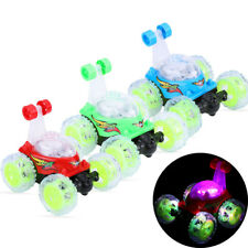 360° Rolling Remote Control RC Stunt Car Multi Colour Flashing with LED Lights