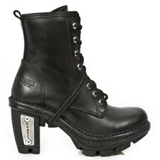 NEW ROCK M.NEOTR008-S1 BLACK REAL LEATHER GOTHIC ROCK STEAM PUNK BOOTS