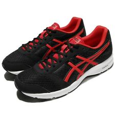 Asics Patriot 9 Black Red White Men Running Athletic Shoes Sneakers T823N-9023