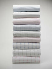Cosy Brushed Cotton 100% Cotton Pink Stripe Duvet / Fitted Sheet / Pillowcase