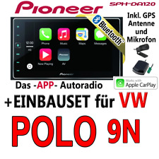 VW POLO 9n - PIONERO 2DIN BLUETOOTH USB AUTORRADIO App Radio CarPlay -