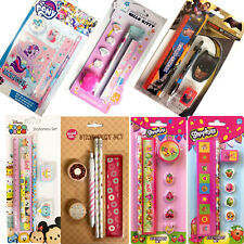 MY LITTLE PONY / DISNEY TSUM / BATMAN V SUPERMAN STATIONERY SET PEN PENCIL RULER