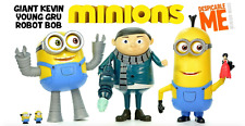 Minion Made Despicable Me Deluxe Action Figure - Robot Bob/Young Gru/Teddy Bob