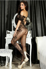 Sexy open shoulder lingerie fishnet open crotch bodystocking one size / UK 6-14